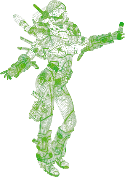 Liquid Knight Superfly wireframe raster object 422x597.png